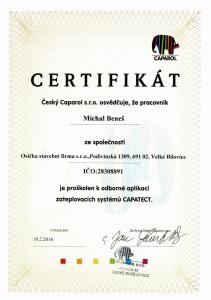 certifikat-michal-benes