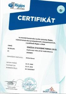 certifikat-rigips-michal-benes